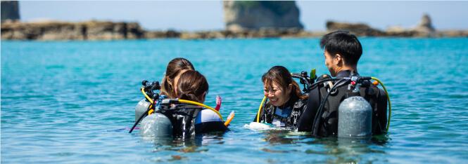 穏やかな海で初めての海洋実習をスタートイメージ